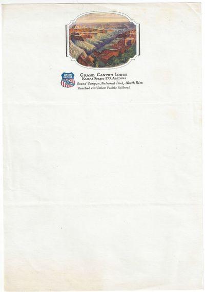 : , 1930. Illustrated letterhead unused. Two horizontal folds otherwise Near fine. Color illustratio...