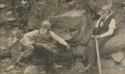 Photograph of John Muir and John...