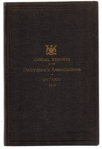 Annual Reports of the Dairymen's Associations of the Province of Ontario, 1919