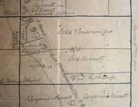 Manuscript map of Deposit and Bennettsville