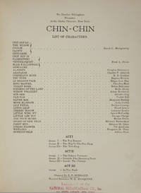 Chin-Chin. Words by Anne Caldwell. [Piano-vocal score]