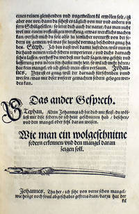 Ein Gesprechbüchlein zweyer schüler, Wie einer den andern im zierlichen schreyben untherweyst by  Johann Neudörffer - 1549 - from Bromer Booksellers and Biblio.com