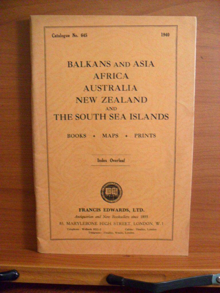 Catalogue No. 645. BALKANS AND ASIA, AFRICA, AUSTRALIA ...