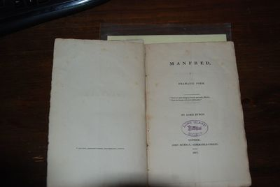 London: John Murray, 1817. First Edition, third issue (with quote from
