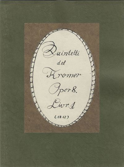 5 parts. Small folio (ca. 300 x 230 mm). Sewn. Laid into modern green wrappers with oval label in pe...