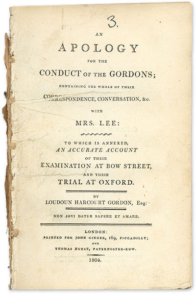 1804. London: Printed for John Ginger, 1804.. London: Printed for John Ginger, 1804. A Famous Englis...
