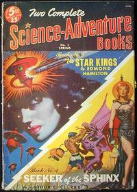 image of Two Complete Science-Adventure Books Spring, 1951 Vol. 1, No. 2 [1st appearance of Seeker of the Sphinx by Arthur C. Clarke]