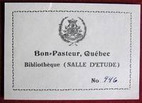 Ex-libris Québec. Bon-Pasteur, Québec
