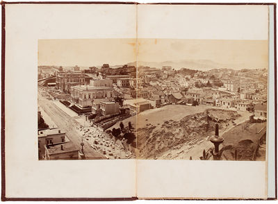 : Morse's Gallery, 1877. Albumen photographic panorama mounted on eleven panels, the entire panorama...
