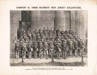 "COMPANY D, THIRD REGIMENT OF NEW JERSEY VOLUNTEERS  [broadside view]:; From a photograph taken on the day of departure, May 2, 1898.  Presented as a souvenir by the ""Home News,"" on the return of the Soldier Boys, Feb. 13, 1899"