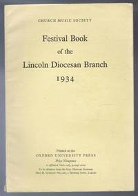Festival Book of the Lincoln Diocesan Branch 1934