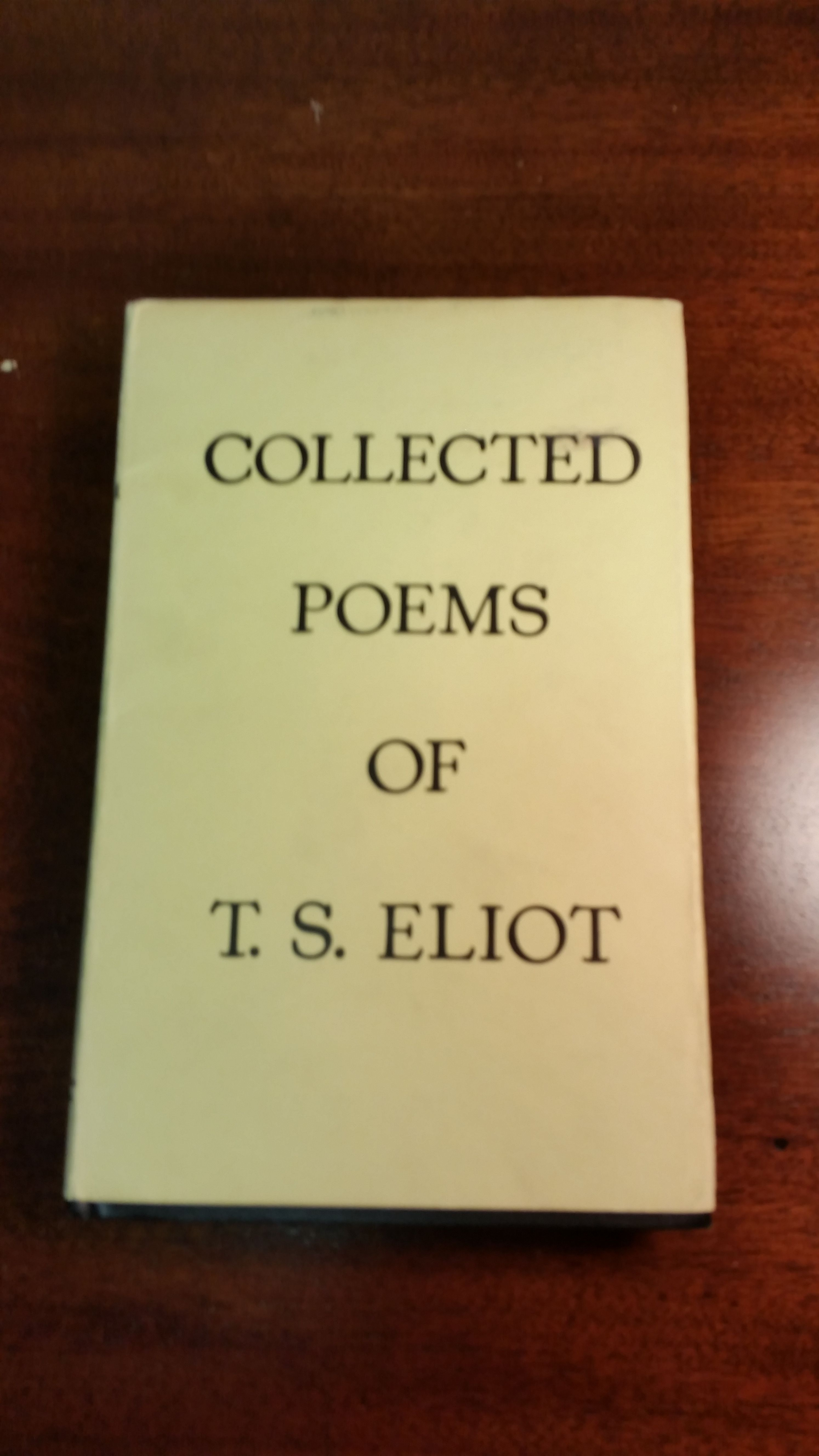 Collected Poems 1909 1935 Of Ts Eliot By Ts Eliot Signed First Edition 1936 From Blitzen Books And Bibliocom
