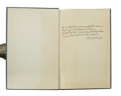 With An Autograph Poem By Frost, In Dust Jacket FROST, Robert. Mountain Interval. New York: Henry Ho...