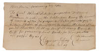 Document Concerning Payment for the Purchase of Law Books, 1762