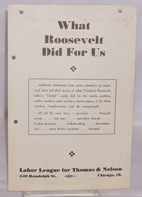 What Roosevelt did for us