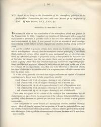 Sequel to an Essay on the Constitution of the Atmosphere.(Philosophical Transactions of the Royal...
