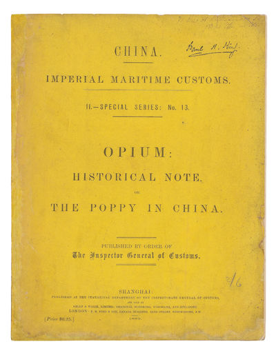 Opium: historical Note, or, The poppy...