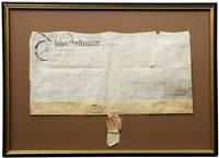 Manuscript vellum document signed by William Penn, granting five hundred acres of land in Pennsylvania to John Dwight