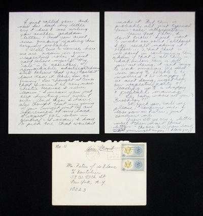 Letter #11 Written by Janis Joplin to Her Fiance Peter J. De Blanc. . ALS to Peter J. De Blanc. . Le...