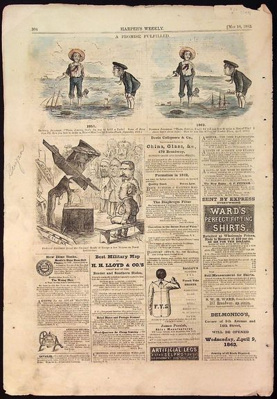 Harper's Weekly, 1862. Paperback. Paperback. Includes 2 hand colored ad and one additional non-color...