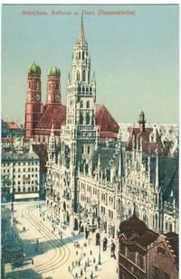 Germany – Munchen, Munich, Rathaus u. Dom (Frauenkirche) early 1900s unused Postcard