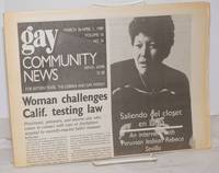 image of GCN: Gay Community News; the weekly for lesbians and gay males; vol. 16, #36, March 26 - April 1, 1989; Saliendo del closet en Lima; Peruvian lesbian Rebeca Sevilla