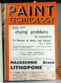 Paint Technology. Vol. VII, January, 1942, No. 73... [to] December, 1942 No. 84