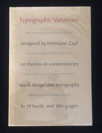 image of Typographic Variations designed by Hermann Zapf on themes in contemporary book design and typography in 78 book-and-title-pages