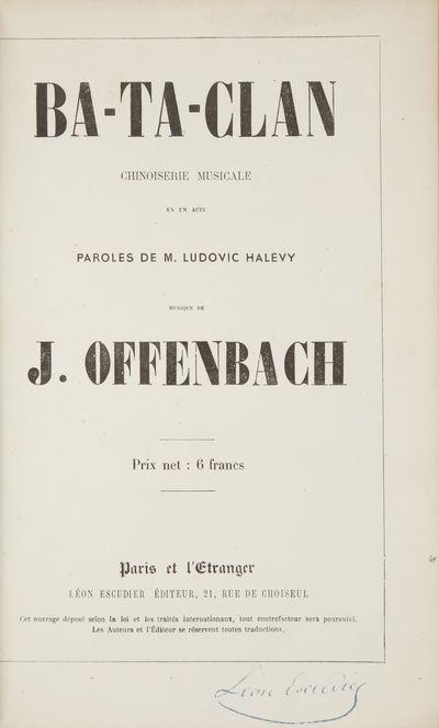 Paris: Léon Escudier , 1856. Octavo. Full modern dark green cloth, modern marbled endpapers. 1f. (r...