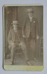 Carte De Visite Photograph: A Studio Portrait of Two Finely Dressed Young Men. by G. B. Rhodes