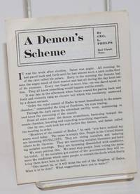A demon's scheme by  George L Phelps - 1916 - from Bolerium Books Inc., ABAA/ILAB and Biblio.com