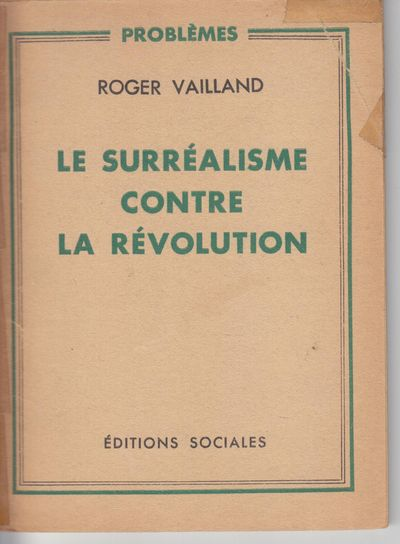 Paris: Editions Sociales. 1948. First Edition; First Printing. Softcover. Wraps, very good with some...