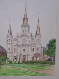"""image of Original Artwork Entitled """"Jackson Park - RC Cathedral"""""""