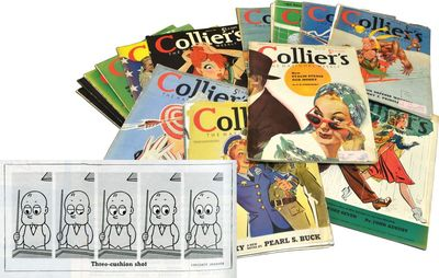 New York: Collier, 1942. First Edition. First Edition. Thirty-seven issues of Collier's Magazine, da...