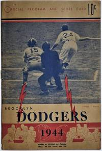 image of Official Program and Score Card Brooklyn Dodgers 1944