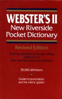 Webster's II New Riverside Pocket Dictionary