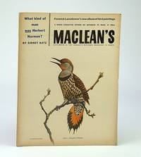 Maclean's - Canada's National Magazine, September (Sept.) 28, 1957 - Herbert Norman / Seven Sets of Twins!/ Joseph Tucker / John Pratt M.P.