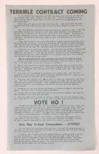image of Terrible contract coming [handbill]
