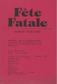 FETE FATALE by  Robert BARNARD - Paperback - Signed First Edition - 1985 - from SCENE OF THE CRIME ® (SKU: 002258)