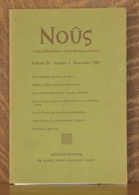 NOUS, VOLUME III NUMBER 3 SEPTEMBER 1969