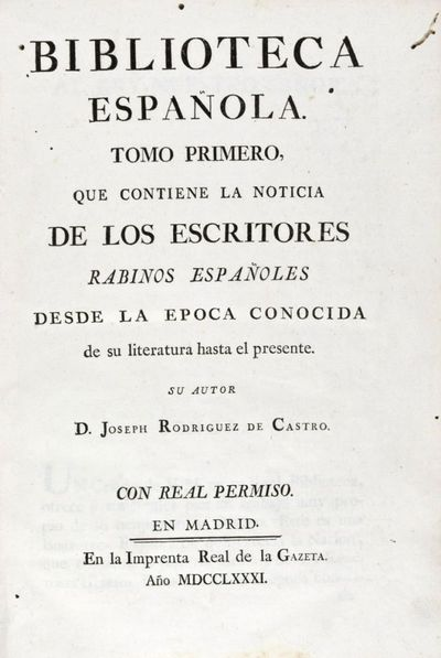 Biblioteca Espanola [2 vols.]