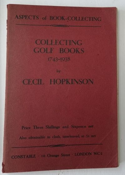 Collecting Golf Books 1743-1938