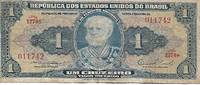 image of Brazil 1,2,5_10  Cruzeiro Banknotes (1954-8)  - Set of 4 Ban