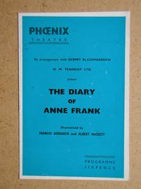 The Diary of Anne Frank. Theatre Programme.