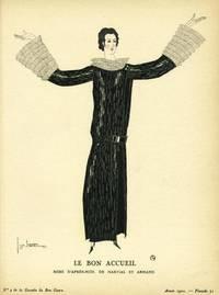 Le Bon Accueil: Robe D'Apres-midi, De Martial Et Armand Print from the Gazette du Bon Ton