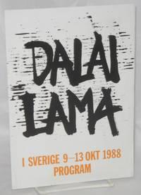Dalai Lama I Sverige 9-13 Okt 1988 Program