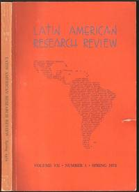 image of The Social History of Colonial Spanish History from Latin American Research Review, Volume VII, Number 1