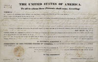 Land Grant. To John A, Edwards of Wayne County, Mississippi. Signed in secretarial hand, but...