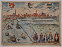 "Wiismaria. [Wismar. General view from ""Civitates Orbis Terrarum""]."