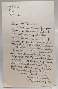 "Autographed Letter Signed (A.L.S.) ""Noel Langley"